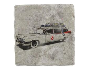 Ghostbusters: Ekto-1 Marble Tile Coaster