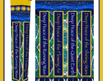"Deep Peace Garden Prayer Pole Solar Light 41"""