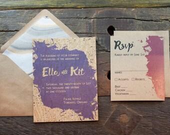 Ella Wedding Invitation Sample