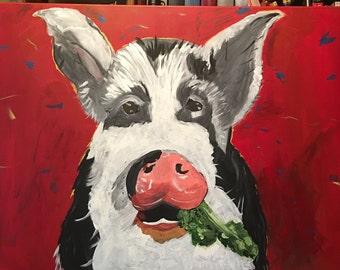 Farmhouse decor, Wall Art, Pig art, wall art decor