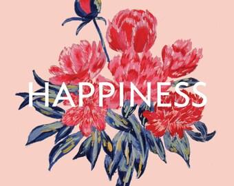 Pivoines/bonheur