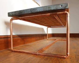 Copper Pipe Coffee Table