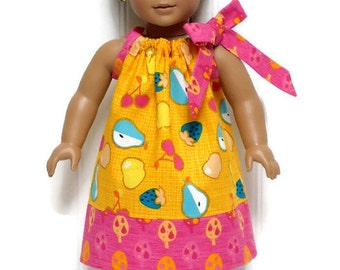 18 inch Doll Clothes Pillowcase Dress Fruit Orange Pink 15 inch Doll Clothes