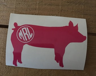 Show Swine Vinyl Decal