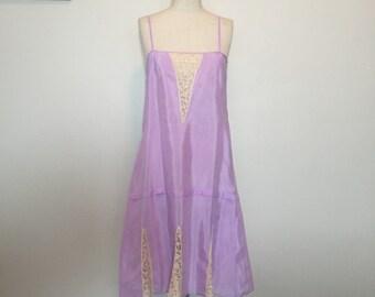 Vintage Antique 20s Purple Slip