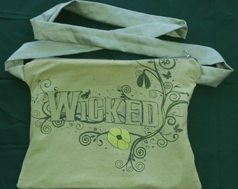 Wicked Crossbody Bag Purse Upcycled FREE UK DELIVERY
