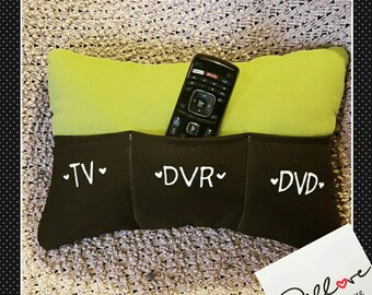 Remote Control Holder Pillow