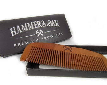 Wooden Beard Comb -Durable -Stylish -Handmade -Pear Wood -Gift for Him -Beards -Free Shipping