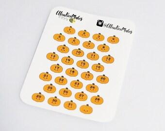 Pumpkin Date Cover Stickers