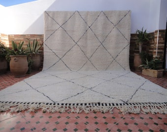 LARGE beni ourain authentic 100% WOOL moroccan berber