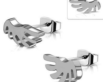 Earrings, Earstuds Angel Wings Stainless Steel 316L
