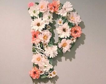 Custom Large Floral Letter