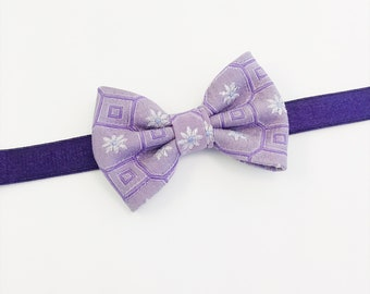 Collier choker lilas - Lilac Choker / cravate upcyclée - upcycled necktie
