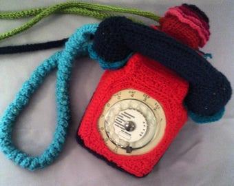 "Vintage ""France Telecom"" dressy crochet phone"