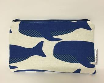 Linen Blue Whale Australia Ocean Pencil Case