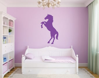 Rearing Horse Sillouette Vinyl Wall Decal - Horse Sillouette Decal - Rearing Horse Wall Decal - Horse Vinyl Wall Decal - Horse Silhouette