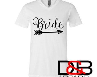 Bride Shirt | Bride Tribe V-neck | Bachelorette Party Tank | Team Bride | Wedding Party Shirt | Bridesmaid Shirt | Bridal Party | Bride Gift