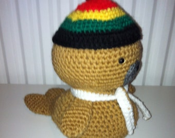 Baby Seal, Amigurumi Seal, Handmade Seal, Crochet Seal, Soft Toy, Stuffed, Gift,  Present, Toy, Birthday Gift