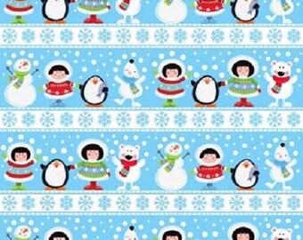 Eskimo Pie Flannel Border Stripe Fabric
