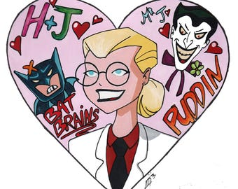 Dr Harleen Quinzel/Harley Quinn A5 Art Print