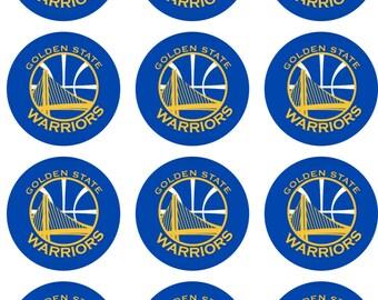 California Basketball Edible Image Cupcake Toppers