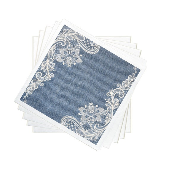 Denim and Lace Party-Party Plates-Napkins-Party Cups-Forks-Spoons-Ice Cream Cups-Lids Straws-Dome Lids-8 Guests  sc 1 st  Etsy & Denim and Lace Party-Party Plates-Napkins-Party