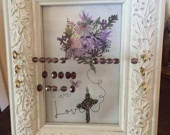 Picture Frame Kitchen Rosaries- One of a Kind