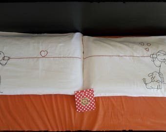 Couple of LOVE pillowcases