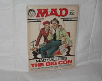 vintage 1974 mad magazine with the sting on the cover