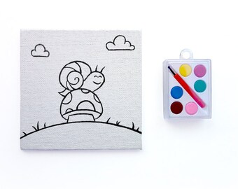 Woodland Paint Party Favor ~ Paint Your Own Snail & Toadstool