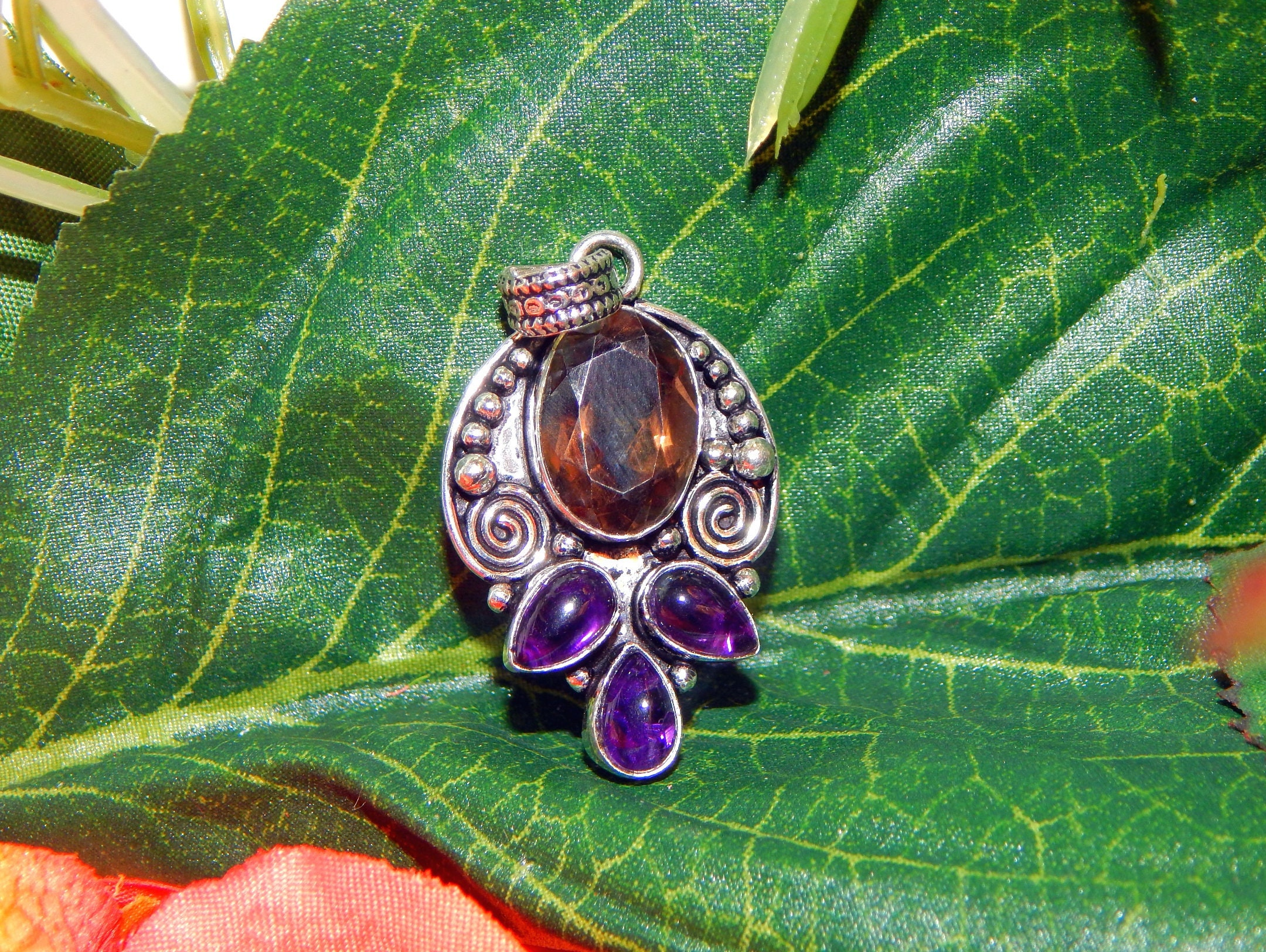 pin jewelry hecate necklace wearable magic unisex purple amethyst hekate witch amulet unique triple art pendant goddess
