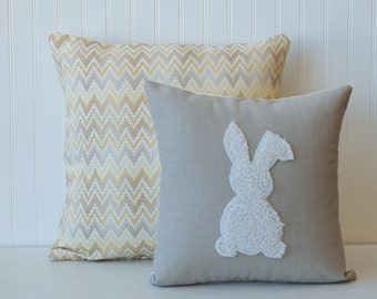 Easter bunny pillow cover,  Nursery pillow cover, Baby Pillow Cover, Decorative pillow cover, Home & Living, Home Decor