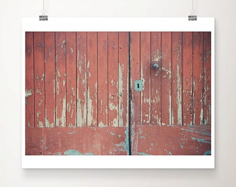 red door photograph architecture photograph french decor rustic decor wood door print red door print france photograph