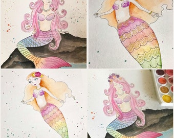 TICKET: Watercolor Mermaid