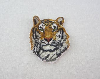 Tiger Head Iron-On Patches Beast Series