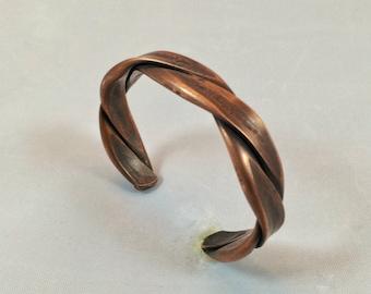 Men's heavy copper cuff