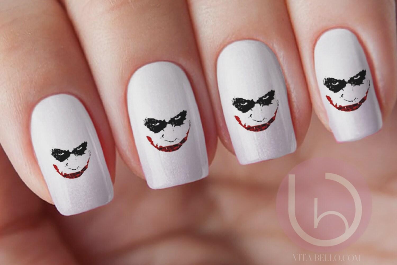 The Joker,joker Decal, joker sticker, joker Nails, joker Nail Decal ...