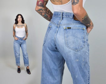 1960's Lee Riders Selvedge Vintage Jeans Paint Splattered Distressed Patina 60s Selvedge Denim small