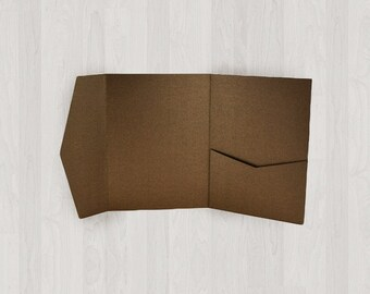 10 Mini Pocket Enclosures - Brown - DIY Invitations - Invitation Enclosures for Weddings and Other Events