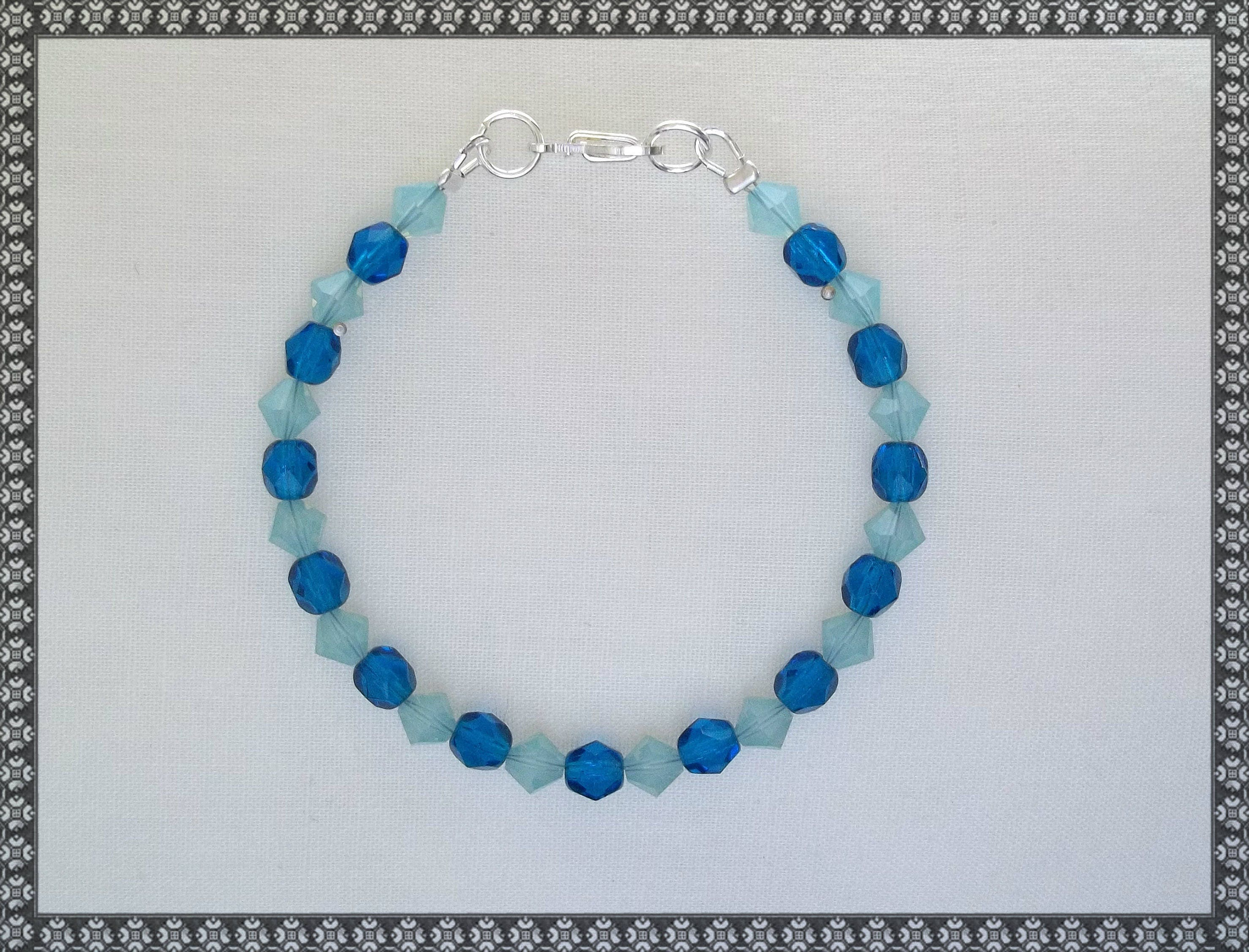 iridescent bracelet product blue lauren light