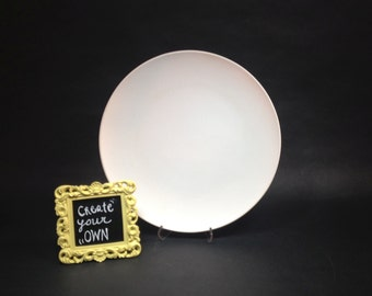 """Custom painted 12"""" Dinner ceramic plate one of a kind"""