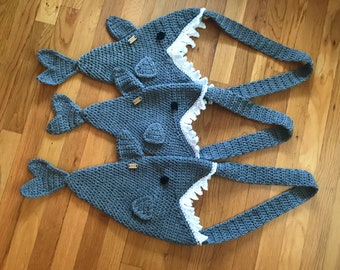 Crochet Shark Bag