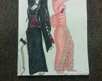 Geishas Drawing
