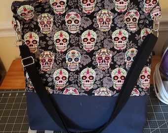 Large Project Bag, Knitting Bag, Crochet Bag, Large Purse, Laptop Bag