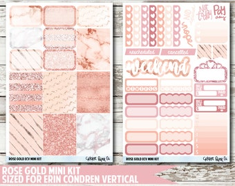 Rose Gold EC VERTICAL Planner Stickers