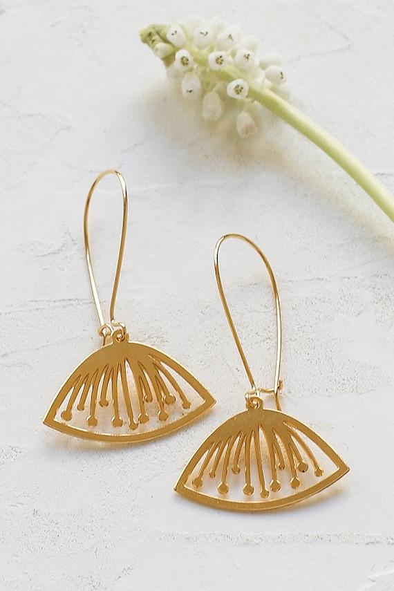 Sif Earrings floral pendant Scandinavian design jewelry