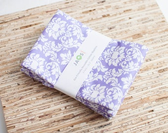 Large Cloth Napkins - Set of 4 - (N4654) - Lavender Damask Modern Reusable Fabric Napkins