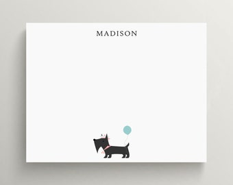 scottie dog stationery | dog note card | thank you note | puppy | preppy | personalized | custom
