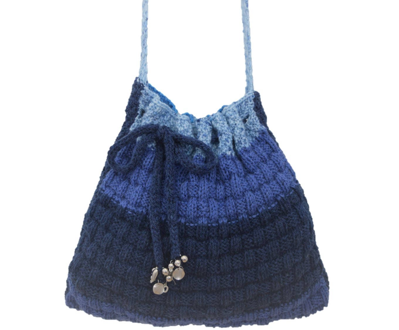 Knitting Pattern for a shoulder bag, Knitting Bag pattern, Handmade ...