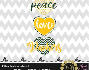 Peace Love packers svg,png,dxf,shirt,jersey,football,college,university,decal,proud mom,texans,nfl,texas,files cricut,patriots,dallas,decal